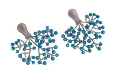 va.ar.9– Arboreal, earrings, 950 silver, turquoise
