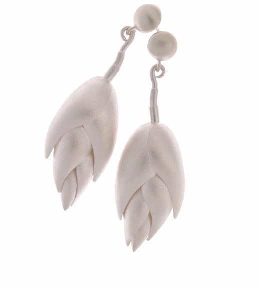 je.ar.4– Heliconia, earrings, 950 silver