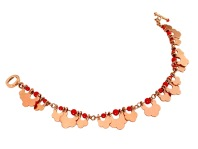 wa.co.1– Yonna (Gold joy and movements), necklace, 18 karat red gold, recycled red coral