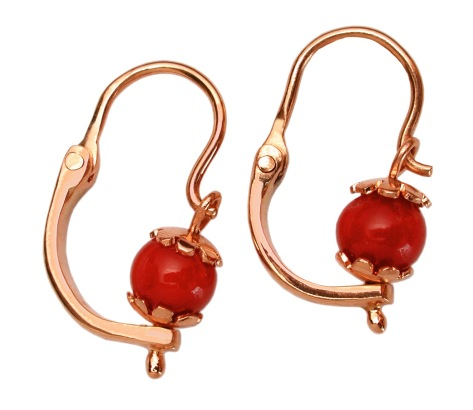 wa.ar.5– The middle path, earrings girl, 18 karat red gold, recycled red coral