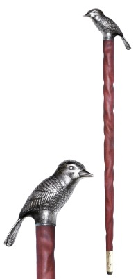 "wa.ba.1– Wararaat (The desert wisdom), cane of the ""Word Giver"", sterling, nazareno wood"