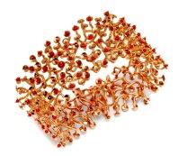 wa.pu.3– Awáyaja (Solar delusion), bracelet, 18 carat red gold, recycled red coral