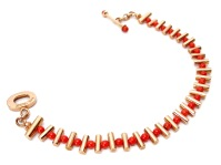 wa.pu.1– Yonna (Gold joy and movements), bracelet, 18 karat red gold, recycled red coral